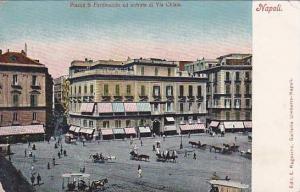 Piazza S. Ferdinando Ed Entrata Di Via Chiaia, Napoli (Campania), Italy, 1900...