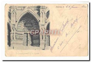 Amiens Old Postcard The great facade portal
