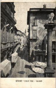 CPA VERONA Piazza Erbe. Colonna.. ITALY (448782)
