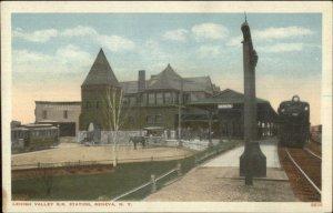 Lehigh Valley RR Train Station Depot - Geneva NY c1920 Postcard