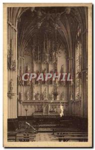 Old Postcard Noyon The Cathedral Lady Chapel