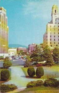 Arkansas Hot Springs National Park Looking Northwest On Central Avenue 1955
