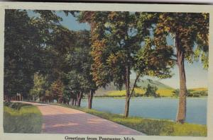 Michigan Greetings From Pentwater 1940