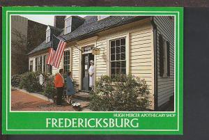 Hugh Mercer Apothecary Fredericksburg VA Postcard BIN