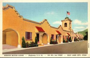 Utah Salt Lake City Mission Motor Lodge Curteich
