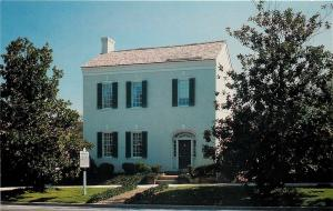 Columbia Tennessee~Facade of Home of James K Polk~1950s Postcard