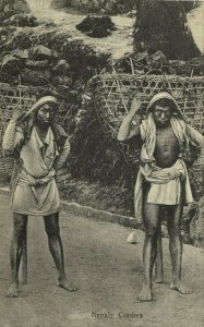 nepal, Native Nepalese Coolies (1910s) Postcard