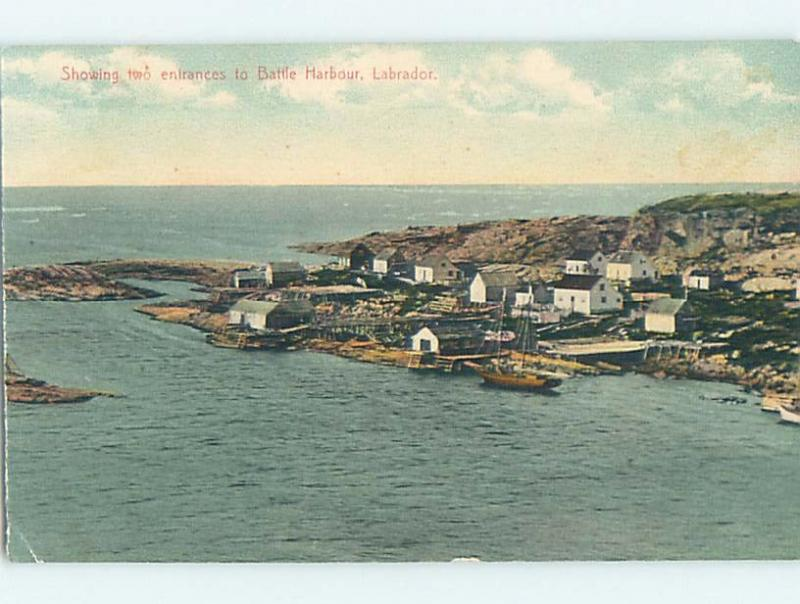 Divided-Back HARBOR SCENE Labrador Newfoundland NL hp7897