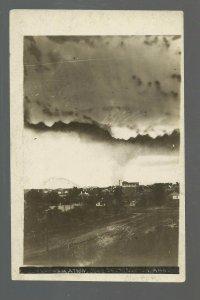 Norton KANSAS RP 1909 TORNADO Twister CYCLONE TOUCHING DOWN Storm Clouds
