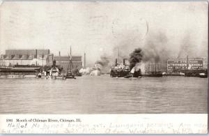 1908 Mouth of Chicago River, Chicago, Illinois Z17