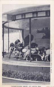 Chimpanzee Show Table-Catches, St. Louis Zoo, St. Louis, Missouri, 1920-1940s
