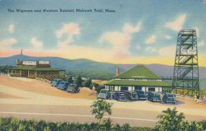 Wigwam Gift Shop at Western Summit Mohawk Trail MA Massachusetts pm 1940 - Linen