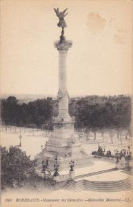 BORDEAUX, Gironde, France, 1900-1910´s; Monument Des Girondins
