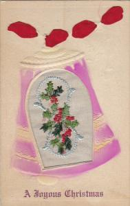 Embroidered Flowers In Pink Bell A Joyous Christmas