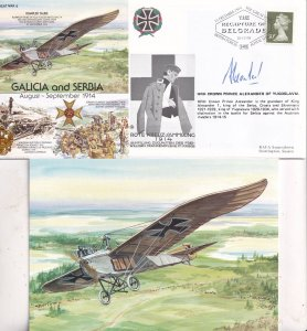 Battle Of Galicia & Serbia Prince Alexander Of Yugoslavia Hand Signed FDC