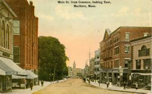 MA - Marlboro. Main Street from Common looking East