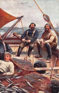 Ye Mariners of England North Sea Fisherman Returning to Harbor Tuck Postcard