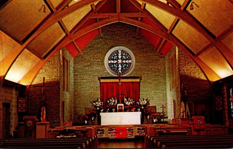 Wisconsin Milwauke St Luke's Episcopal Church Rose Window and Altar