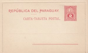 PARAGUAY , 1890s ; Postal Card