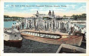 LP61 Sarasota  Florida Postcard Fishing Boats Fish