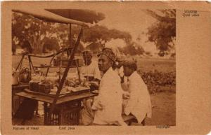 INDONESIA PC DUTCH INDIES - Warong East Java - Natives at meal (a1746)
