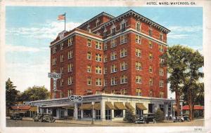 Georgia Ga Postcard 1938 WAYCROSS Hotel Ware Building