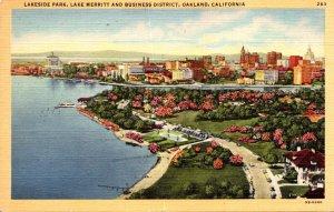 California Oakland Lakeside Park Lake Merritt and Business District