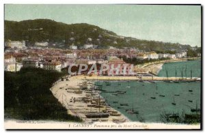 Old Postcard Panorama Cannes Pres Du Mont Chevalier Boat