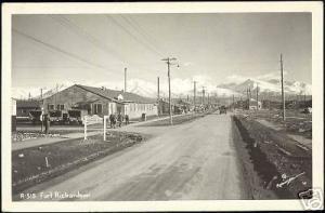 Fort Richardson Alaska Service Office 40s Robinson RPPC