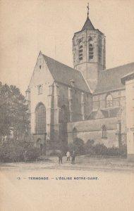 Termonde Eglise Notre Dame Belgium Old Postcard