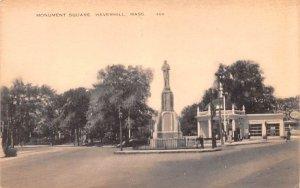 Monument Square  Haverhill, Massachusetts Postcard