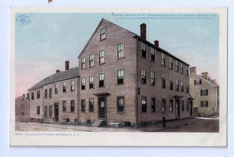 Portsmouth NH Postcard William Pitt Tavern 1907 Photostint