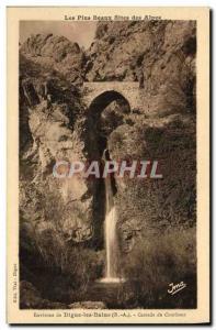 Old Postcard The Pius Fine Sites Des Alpes Envinrons De Digne Les Bains Casca...