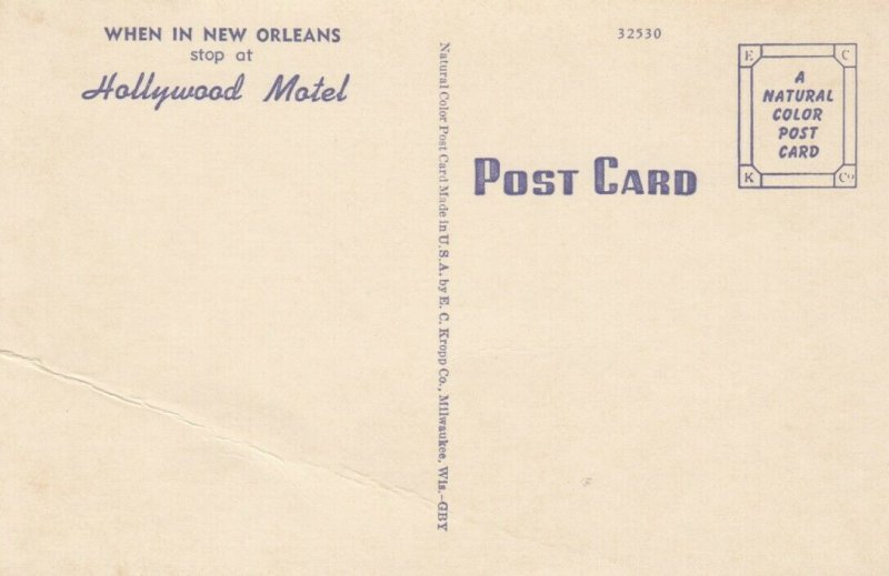 NEW ORLEANS, Louisiana, 30-40s ; Hollywood Motel, 3-views