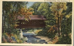 Covered Bridge at West Brattleboro VT, Vermont - Linen
