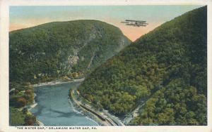 Delaware Water Gap PA, Pennsylvania - Bi-Plane Overhead - WB