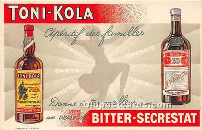 Advertising Postcard - Old Vintage Antique Toni Kola Bitter