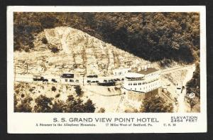 SS Grand View Hotel Bedford PA Lincoln Highway Used c1939