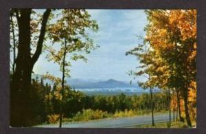 ME Attean Mountain & Lake in JACKMAN MAINE Postcard PC