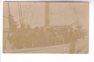 Real Photo, Group of Men on Fishing Boat