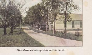 Main Street & Murray Hall, Marlow, New Hampshire 1900-1910s