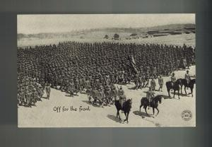 Mint Mexico Revolution RPPC Postcard US Army Infantry Soldiers Off For the Front