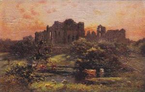 Kenilworth Castle, Cattle, Warwickshire, England, UK, 1900-1910s