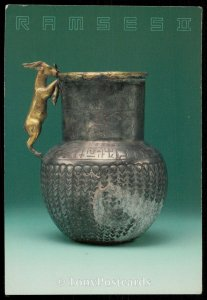Silver and Gold Vessel with Goat Handle