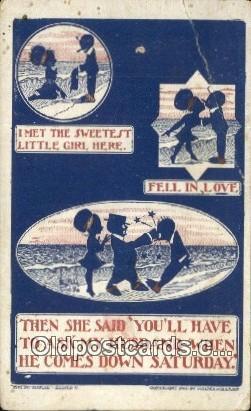 Artist Walter Wellman Silhouette Postcard Post Card Old Vintage Antique  Arti...