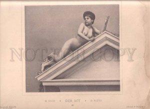 092680 GERMAN ART NOUVEAU Koch Rieth NUDE RISQUE GIRL #32