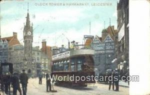 United Kingdom, UK, England, Great Britain Clock Tower & Haymarket Leicester ...