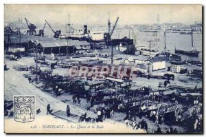 Bordeaux - Quays and Rade - Old Postcard