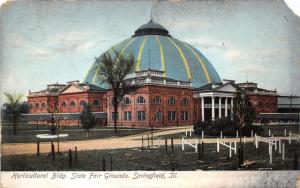 Springfield Illinois~State Fairgrounds~Horticulture Building~Striped Dome~c1910