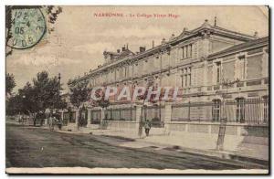 Narbonne - The College Victor Hugo - Old Postcard